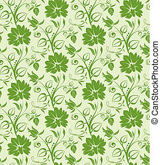 Floral seamless background - Flower seamless background,...