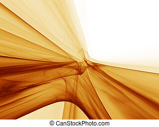 dynamic golden motion, flowing energy