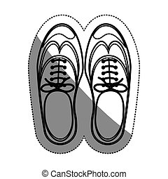Isolated male shoes design - Male shoes icon. Cloth fashion...