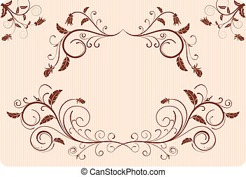 Collect flower border, element for design, vector...