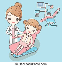 Cartoon young children with doctor,great for your design