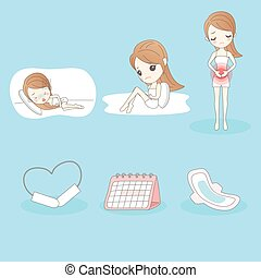 woman is suffering menstrual pains