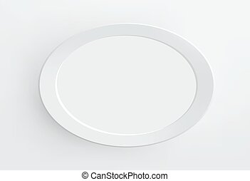 blank paper frame on white wall_ Vector.