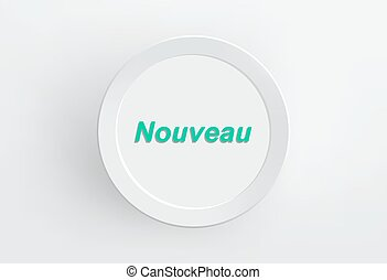 Nouveau paper frame on white wall. Vector.