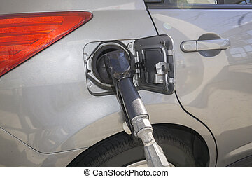 Fuel Pump - Fossil fuel going into a car