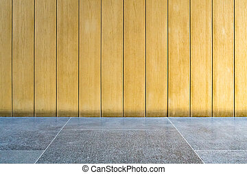 Brown Wooden wall with granite floor