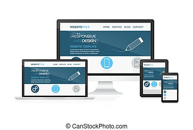 Responsive design and web devices. Concept for presentation...