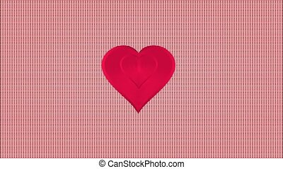Video Valentine hearts pink striped background