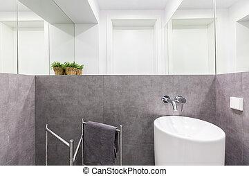 Klein, Badezimmer, Modern, Sinken ...