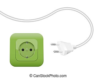 Green Socket Energy Environment Power SCHUKO - Green socket,...