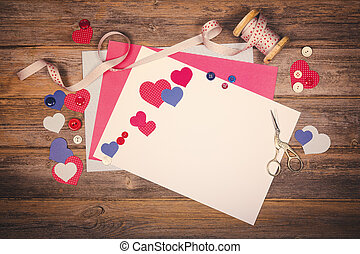 Retro scrapbooking themed image