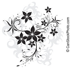 Abstract flower background with circle, element for design,...