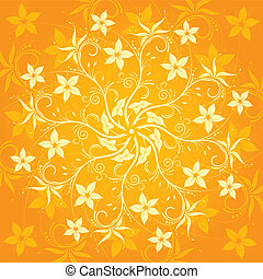 Abstract flower pattern, element for design, vector...