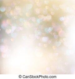 Abstract heart bokeh bright background. EPS 10