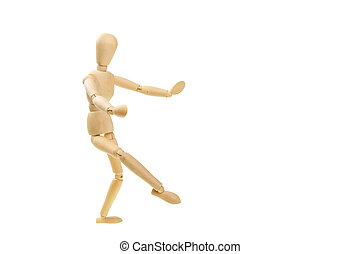Dancing mannequin - Artists wooden mannequin in a dancing...