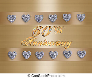 60th anniversary - 60th Wedding Anniversary card or...