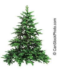 descubierto, árbol, navidad