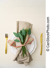 Christmas place setting - Natural Christmas place setting...