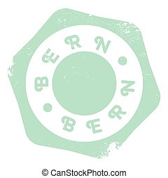 Bern rubber stamp - Bern stamp. Grunge design with dust...