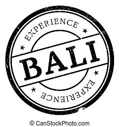 Bali rubber stamp - Bali stamp. Grunge design with dust...