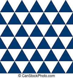 Indigo Blue White Triangle Background