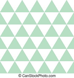 Green White Triangle Background. Vector Illustration.