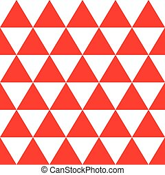 Red White Triangle Background. Vector Illustration.