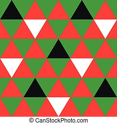 Red Green Black White Triangle Background. Vector Illustration.