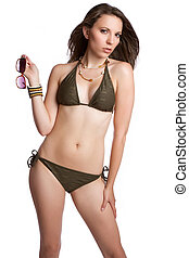 Sexy Swimsuit Woman - Sexy isolated woman wearing swimsuit