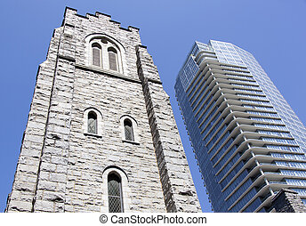 First Baptist Church - The tower of First Baptist church in...