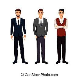three men businessman team work