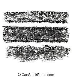 charbon de bois, Raies,  Textured