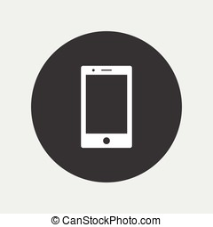 Smartphone icon simple illustration - Smartphone icon simple...