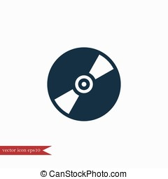 Cd disc icon simple illustration - Cd disc icon simple music...