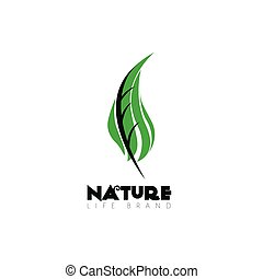 Isolated nature logo with text, Vector illustration