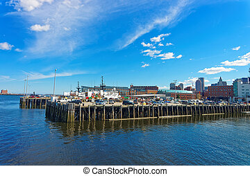 Boston Wharf and Charles River