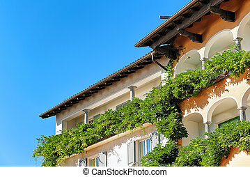 House at expensive resort in Ascona at Swiss - Hotel house...