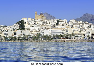 Altea Alicante province Spain view from blue sea - Altea...