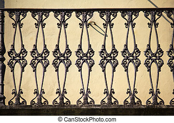 Old Balustrade - Old balustrade made of iron in Tuscany /...