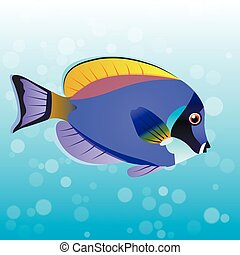 Powder Blue Tang fish - Very high quality original trendy...
