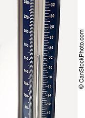Sphygmomanometer isolated on white background.