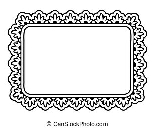 Ornate frame - Hand drawn ornate frame isolated on white