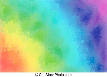 Rainbow watercolor background