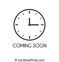 Coming Soon Illustration - Coming soon illustration on a...