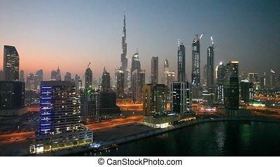 Dubai downtown at night - Dubai downtown skyline at night....