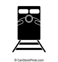 silhouette train rail road mass transit vector illustration...