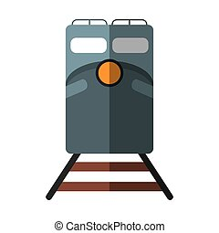 train rail road mass transit shadow vector illustration eps...