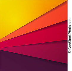Abstract Multi Color Vector Background With Overlap Paper Layer