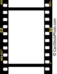 photographic 35 mm film strip isolated on white background