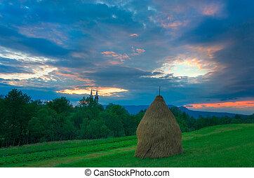 Farm Scene in Breb Maramures Romania